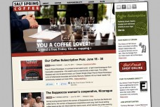 Salt Spring Coffee Website Re-development